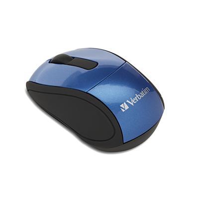 Verbatim 97471 Wireless Mini Travel Mouse Mouse optical wireless 2.4 GHz USB wireless receiver blue