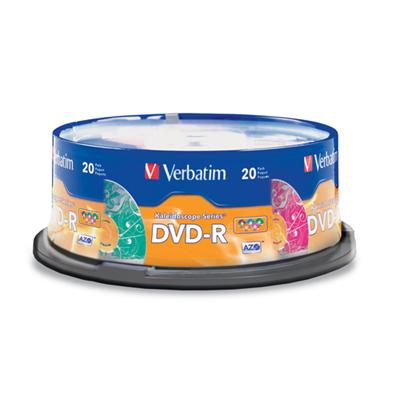 Verbatim 97503 Kaleidoscope - 20 x DVD-R - 4.7 GB (120min) 16x - spindle