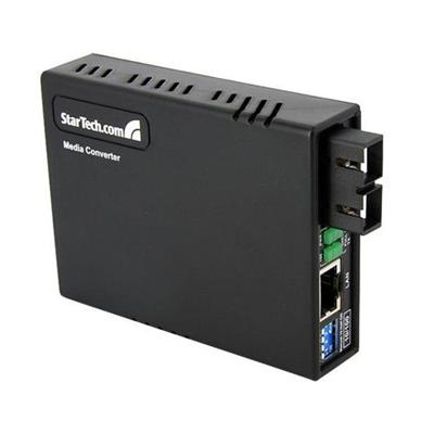 StarTech.com MCM110SC2 10/100Mbps Fiber to Ethernet Media Converter - Multi Mode - SC - 2km - Copper-to-Fiber Media Converter