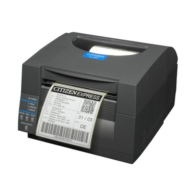 Citizen CL S521 E GRY CL S521 Label printer thermal paper Roll 4.65 in 203 dpi up to 360 inch min USB LAN serial