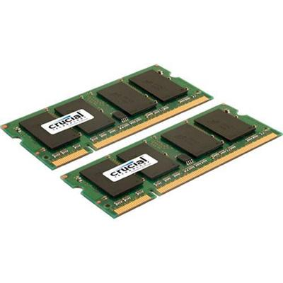 Crucial CT2KIT12864AC800 2GB (2X1GB) 800MHz DDR2 SDRAM SO-DIMM 200-pin Non-ECC Memory Module