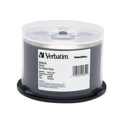 Verbatim 97281 50 x DVD-R - 4.7 GB (120min) 16x - shiny silver