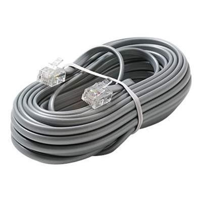 phone cable - 15 ft - silver