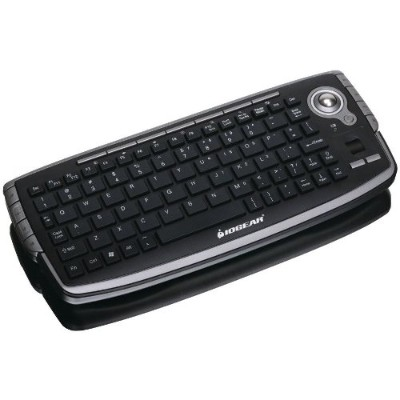 Iogear GKM681R 2.4GHz Wireless Compact Keyboard with Optical Trackball and Scroll Wheel