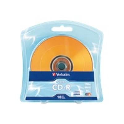 Verbatim 97514 Colours - 10 x CD-R - 700 MB ( 80min ) 52x - blue  purple  green  orange  pink - blister