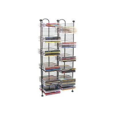 Atlantic 6370-5079 Nestable - Media storage rack - capacity: 100 CD - gunmetal