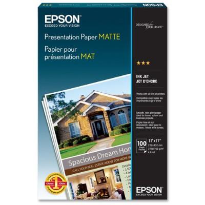 Epson S041070 11 x 17 Presentation Paper Matte - 100 Sheets