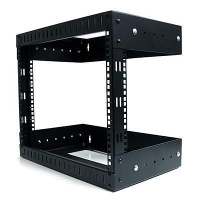 StarTech.com RK812WALLOA 8U Open Frame Wall Mount Equipment Rack Adjustable Depth Wall Mount Server Rack Wallmount Rack