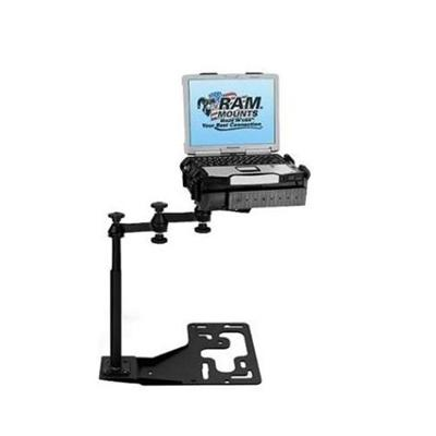 RAM Mounts RAM-VB-168-SW1 No Drill Vehicle Laptop Mount Stand for Freightliner International Kenworth Mack Peterbilt and Volvo Trucks