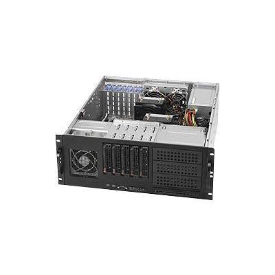 Super Micro CSE 842TQ 665B Supermicro SC842 TQ 665B Rack mountable 4U extended ATX SATA SAS hot swap 665 Watt black USB
