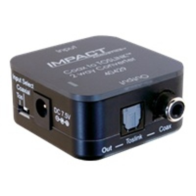 Cables To Go 40429 TOSLINK to RCA Digital Audio Bi Directional Converter Coaxial optical digital audio converter black