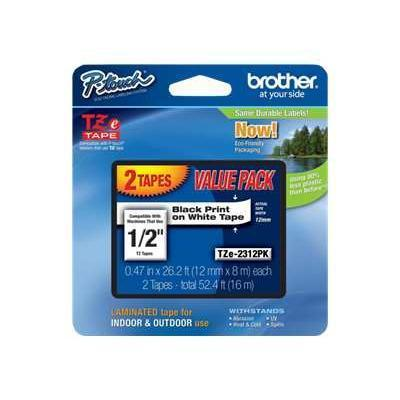 Brother TZE2312PK TZe 2312PK - laminated tape - 2 roll(s)