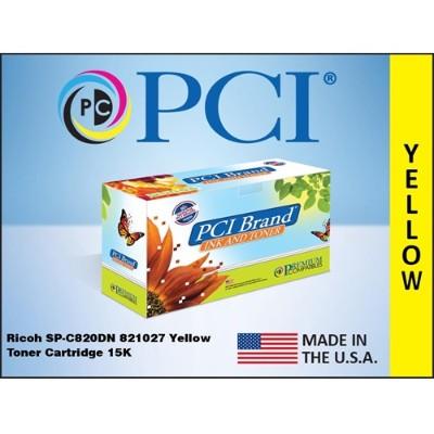 Premium Compatibles 821027PC SPC820DN 821027 Yellow Toner Cartridge for Ricoh Printers