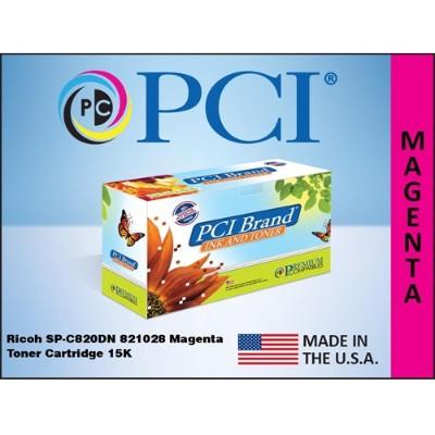 Premium Compatibles 821028PC SPC820DN 821028 Magenta Toner Cartridge for Ricoh Printers