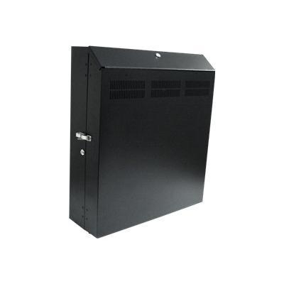 StarTech.com RK419WALVS Wall Mount Server Rack with Dual Fans and Lock Vertical Mounting Rack for Server 4U