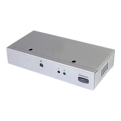 2 Port DisplayPort Video Switch with Audio & IR Remote Control - video/audio switch - 2 ports - desktop