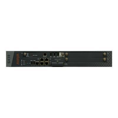 Avaya 700476393 Media Gateway G430 - VoIP gateway - 10Mb LAN  100Mb LAN - 1.5U - rack-mountable