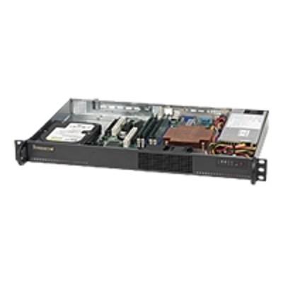 Super Micro CSE-510L-200B Supermicro SC510 L-200B - Rack-mountable - 1U - micro ATX - SATA/SAS 200 Watt - black