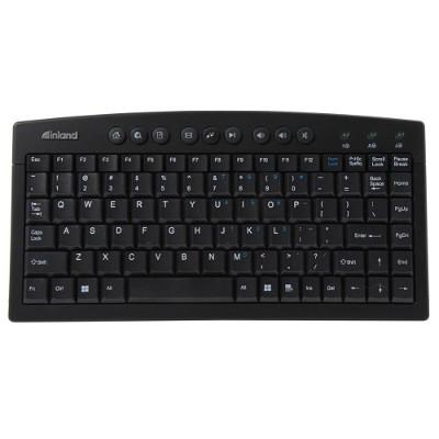 Inland Products 70141 Mini Multimedia Keyboard USB black silver