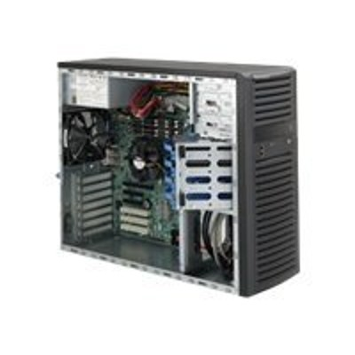 Super Micro CSE-732D2-500B Supermicro SC732 D2-500B - Mid tower - extended ATX 500 Watt - black - USB/Audio