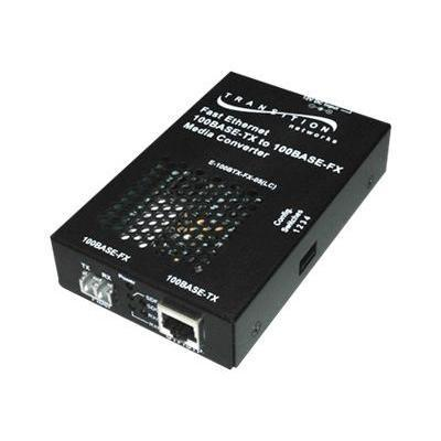 Transition E-100BTX-FX-05(LC)NA Stand-Alone - Fiber media converter - Fast Ethernet - 100Base-FX 100Base-TX - RJ-45 / LC multi-mode - up to 1.2 miles - 1300 nm