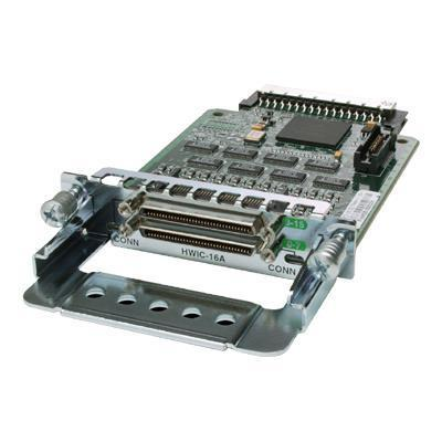 Cisco HWIC-16A High-Speed - Expansion module - RS-232 x 2 - for  1841 ADSL2  18XX  1921 4-pair  1921 ADSL2+  1921 T1  19XX  28XX  29XX  38XX  39XX