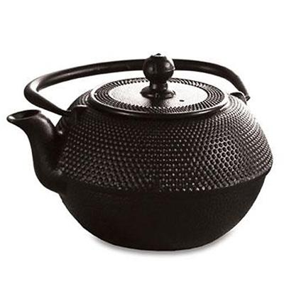 Black Cast Iron Tea Pot