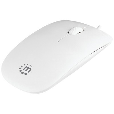 Manhattan 177627 Silhouette 1000 dpi USB Optical Mouse White