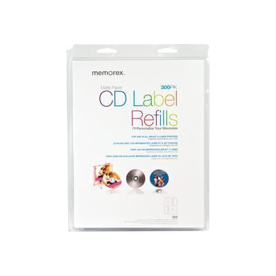 CD labels - matte white (pack of 300 )
