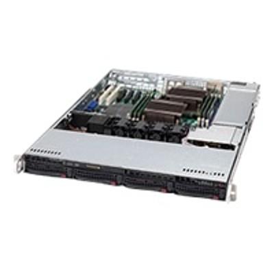 Super Micro CSE 815TQ 563CB Supermicro SC815 TQ 563CB Rack mountable 1U extended ATX SATA SAS hot swap 560 Watt black