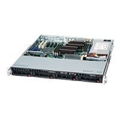 Super Micro CSE 813MTQ 600CB Supermicro SC813M TQ 600CB Rack mountable 1U ATX SATA SAS hot swap 600 Watt black USB serial