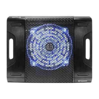 "Thermaltake Massive 23 LX Steel Mesh Panel Single Oversized 230mm Blue LED Fan Portable 10""-17"" Laptop Notebook Cooling Pad CLN0015"