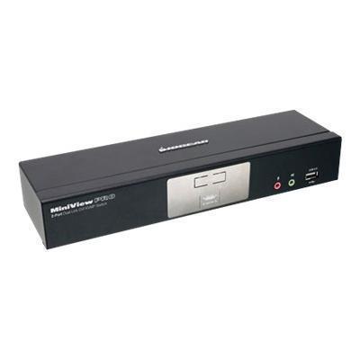 Iogear GCS1782G MiniView Dual Link DVI KVMP Pro with 7.1 Audio GCS1782G - KVM / audio / USB switch - USB - 2 x KVM / audio / USB - 1 local user - desktop