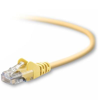 Belkin A3L791-05-YLW-S Patch cable - RJ-45 (M) to RJ-45 (M) - 5 ft - UTP - CAT 5e - molded  snagless - yellow - B2B - for Omniview SMB 1x16  SMB 1x8  OmniView I