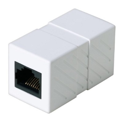 Belkin R6G050 Network coupler - RJ-45 (F) to RJ-45 (F) - white