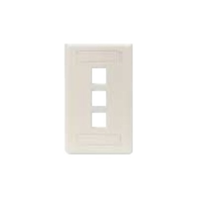 Black Box WP469 GigaStation - Wall plate - telco ivory - 3 ports