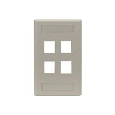 Black Box WP473 GigaStation - Wall plate - gray - 4 ports