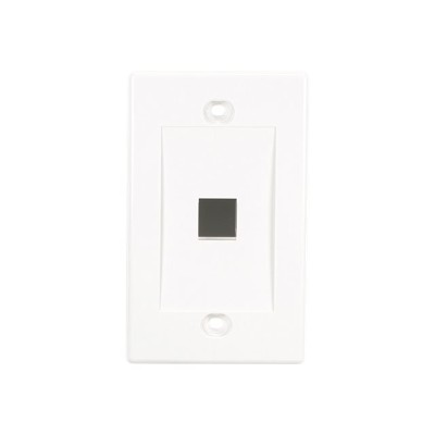 Black Box WPWH-1-10PAK Value Line - Wall plate - white - 1-gang - 1 port (pack of 10 )