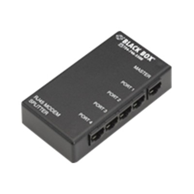 Black Box TL421A Modem Splitter 4 Port RS 232 on RJ 45 Serial splitter DTE RJ 45 F to RJ 45 F