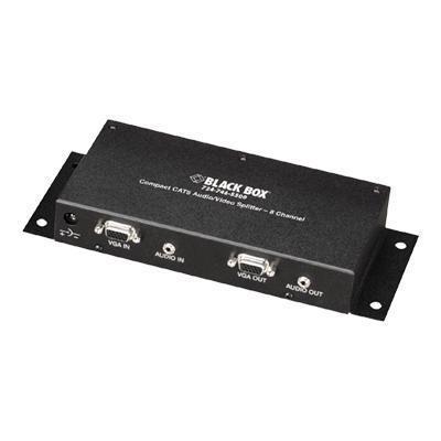 Black Box AC154A-8 Compact CAT5 Audio/Video Splitter - Video/audio splitter - desktop