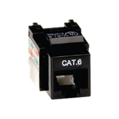 Black Box CAT6J-BK Value Line CAT6 - Modular insert - RJ-45 - - for P/N: WPIV-1  WPIV-2  WPIV-3  WPIV-4  WPWH-1  WPWH-2  WPWH-3