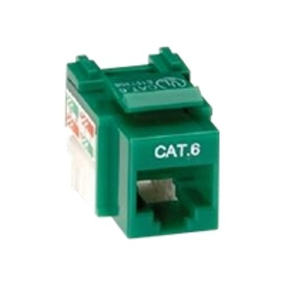 Black Box CAT6J-GN-10PAK Value Line CAT6 - Modular insert - RJ-45 - green (pack of 10)