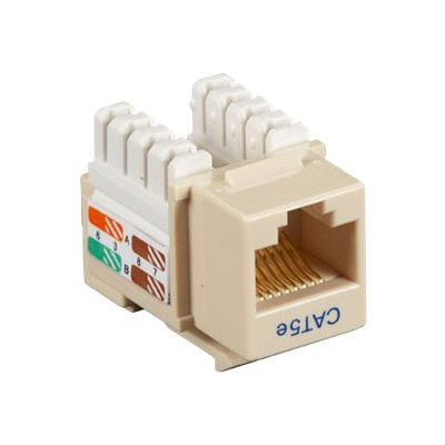 Black Box CAT5EJ-IV-5PAK Value Line CAT5e - Modular insert - RJ-45 - ivory (pack of 5 )