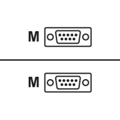 Black Box EYN257T-0006-MM Null modem cable - DB-9 (M) to DB-9 (M) - 6 ft - gray