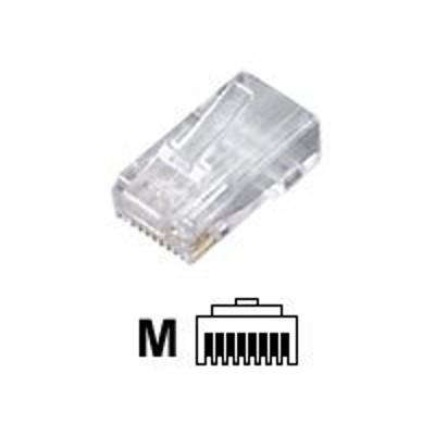 Black Box FM850-10PAK Modular - Network connector - RJ-45 (M) - CAT 5e ( pack of 10 )