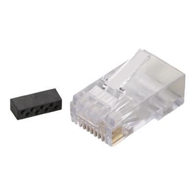 Black Box FM860-25PAK Network connector - RJ-45 (M) - CAT 6 ( pack of 25 )