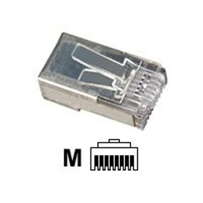 Black Box FM852-50PAK Network connector - RJ-45 (M) - shielded - CAT 5e (pack of 50 )