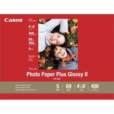 Canon 2311B031 Photo Paper Plus II - Glossy photo paper - 4 in x 6 in 400 sheet(s) - for PIXMA iP2600 MP550 MP560 Pro9000 Mark II