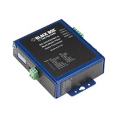 Black Box ICD115A Industrial Opto-Isolated Serial to Fiber - Short-haul modem - ASCII  serial  Modbus - serial RS-232  serial RS-422  serial RS-485 -