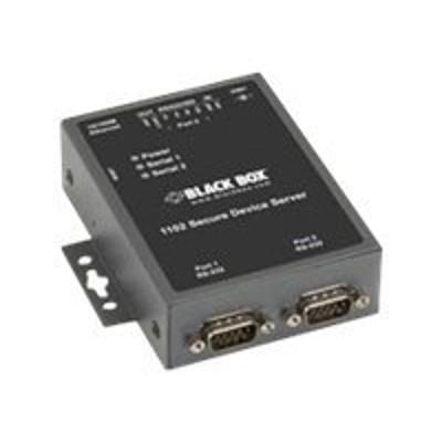 Black Box LES1102A Value Line Device server 2 ports 10Mb LAN 100Mb LAN RS 232